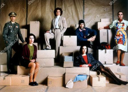 Stock Picture of Manol Arias, Marisa Paredes, J Cortes, M Vargas, Rossy De Palma, Carmen Elias