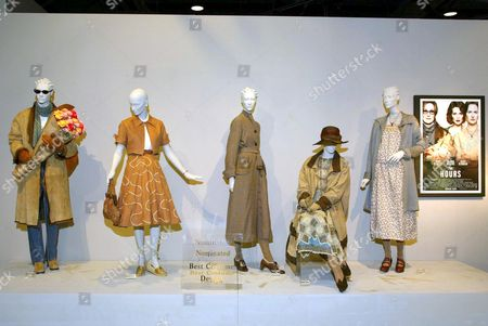 COSTUMES FROM THE FILM 'THE HOURS'. DESIGNER ANN ROTH. WORN BY (L TO R) MERYL STREEP, JULIANNE MOORE AND NICOLE KIDMAN (3 FIGURES)