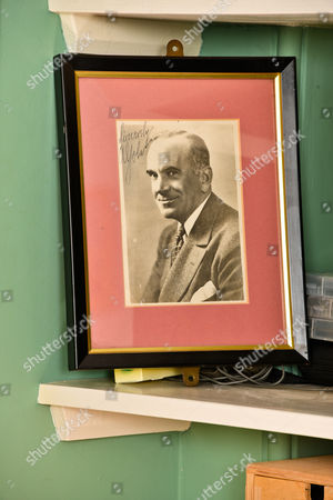A signed photo of his hero Al Jolson who inspired him to go into showbusiness