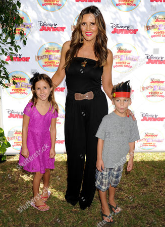 Stock Picture of Jillian Barberie and kids