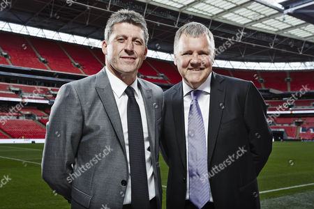 Andy Townsend and Clive Tyldesley at Wembley Stadium
