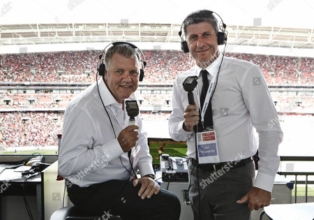Clive Tyldesley and Andy Townsend at Wembley Stadium