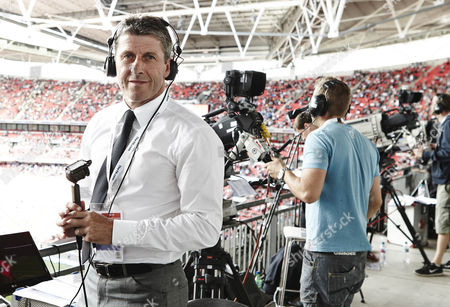 Andy Townsend at Wembley Stadium