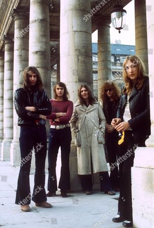 Stock Picture of Mott the Hoople - Peter 'Overend' Watts, Verden Allen, Mick Ralphs, Ian Hunter and Dale 'Buffin' Griffin -  1972
