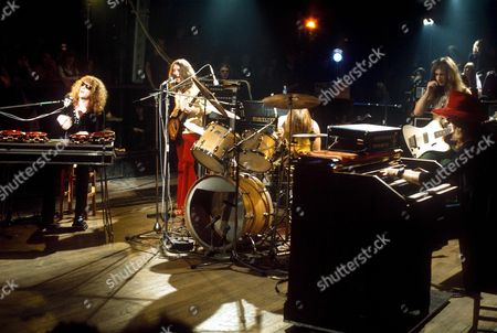 Stock Photo of Mott the Hoople - Ian Hunter, Mick Ralphs, Dale 'Buffin' Griffin, Peter 'Overend' Watts and Verden Allen - 1972