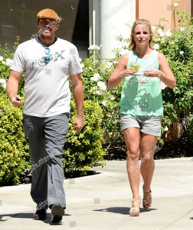 Editorial photo of Britney Spears and David Lucado out and about, Los Angeles, America - 18 Aug 2014
