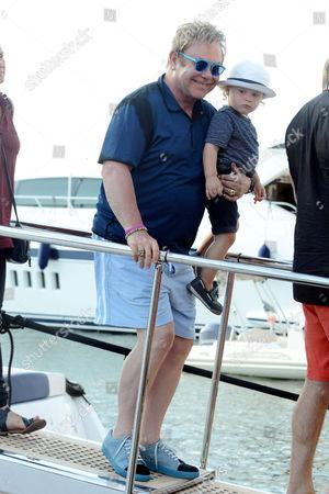 Sir Elton John and son Elijah Furnish-John