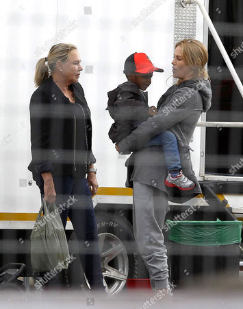 Charlize Theron with son Jackson Theron and her mother Gerda