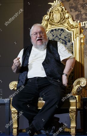 Editorial picture of George RR Martin and Robin Hobb in Conversation, London, Britain - 19 Aug 2014