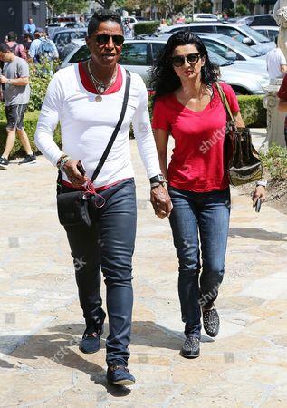 Stock Picture of Jermaine Jackson and Halima Rashid