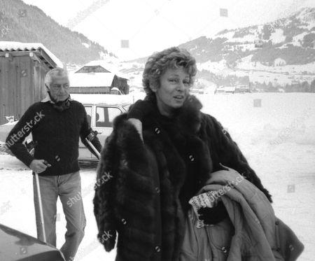 GIOVANNI AGNELLI AND WIFE MARELLA IN GSTAAD, SWITZERLAND