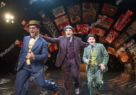 Harry Morrison as Nicely-Nicely Johnson, Peter Polycarpou as Nathan Detroit, Ian Hughes as Benny Southstreet