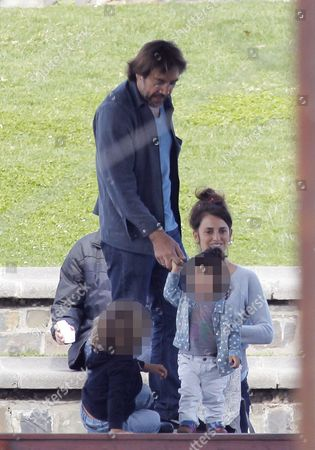 Editorial photo of Penelope Cruz and Javier Bardem out and about, Cape Town, South Africa - 23 Aug 2014
