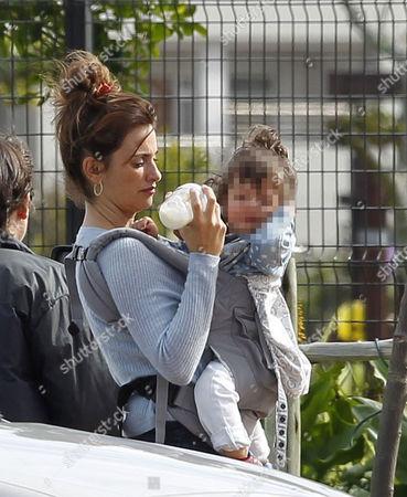 Penelope Cruz with daughter Luna Encinas Cruz