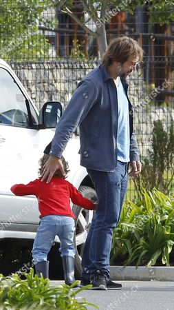 Javier Bardem with son Leo Encinas Cruz