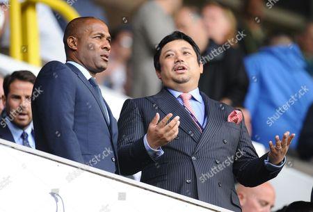 Queens Park Rangers director Ruben Emir Gnanalingam alongside Les Ferdinand