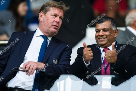 QPR Chairman Tony Fernandes gives a thumbs-up along with QPR Managing Director Philip Beard