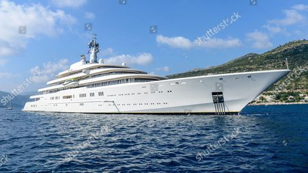 World's largest yacht, 'Eclipse' owned by Russian businessman Roman Abramovitch, lies at anchor in Dubrovnik