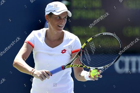 Romina Oprandi of Switzerland in action at the US Open, 2014