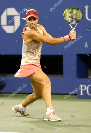 Maria Kirilenko of Russia in action at the US Open, 2014