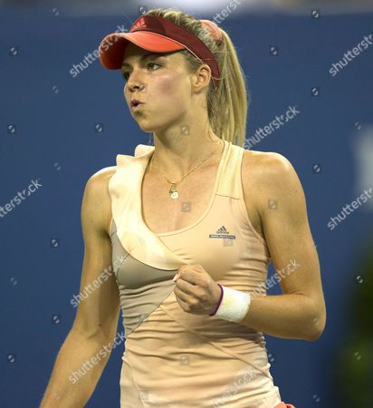 Maria Kirilenko of Russia in action at the US Open