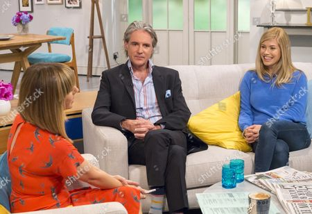Kate Garraway with Michael Praed and Lauren Drummond