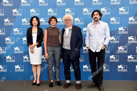 Alice Rohrwacher President of jury with the members of jury Lisandro Alonso, Ron Mann, Vivian Qu of the Jury