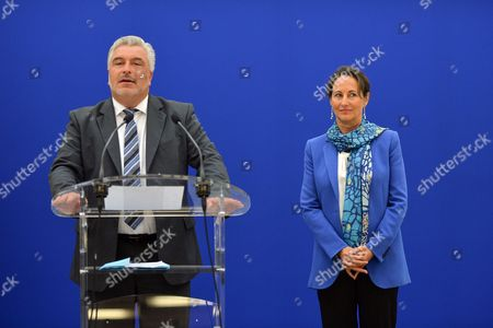 Frederic Cuvillier and Segolene Royal