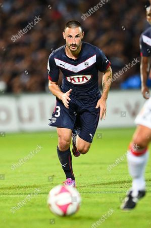 Bordeaux's player Diego Contento in action during the French League one soccer match between Bordeaux and Monaco.