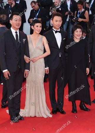 Stock Image of Tong Dawei, Sandra Ng, director Peter Chan and Zhao Wei