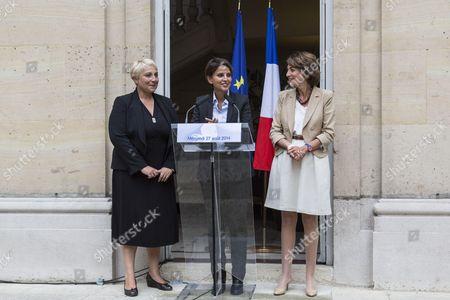 Najat Vallaud-Belkacem, Marisol Touraine and Pascale Boistard