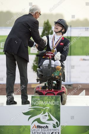 Sophie Christiansen and Janeiro World Champion in the individual competition grade Ia - Alltech FEI World Equestrian Gamesª 2014 - Normandy, France.