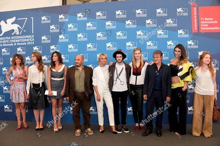 Director Renato De Maria, Isabella Ferrari, Clement Metayer, Eva Riccobono, Roberto De Francesco, Anita Kravos and rest of cast