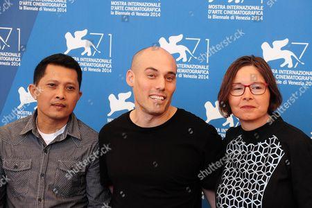 Adi Rukun, Joshua Oppenheimer and Signe Byrge Sorensen