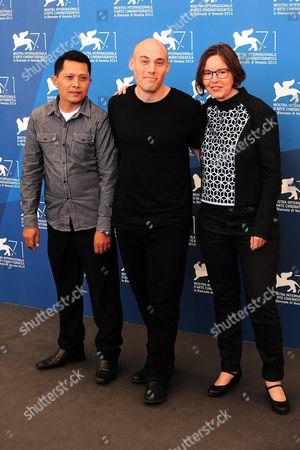 Adi Rukun, Joshua Oppenheimer and Signe Byrge Sorensen.