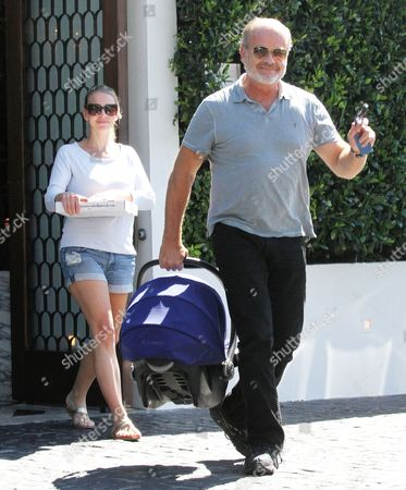 Editorial image of Kelsey Grammer and Kayte Walsh out and about in Beverly Hills, California, America - 27 Aug 2014