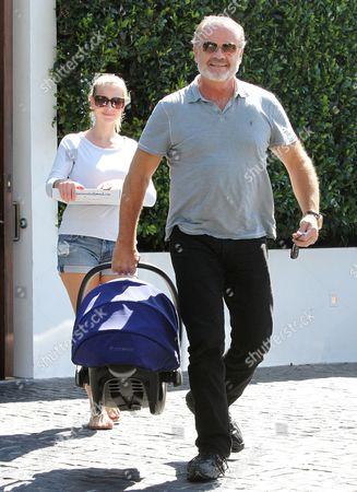 Editorial picture of Kelsey Grammer and Kayte Walsh out and about in Beverly Hills, California, America - 27 Aug 2014