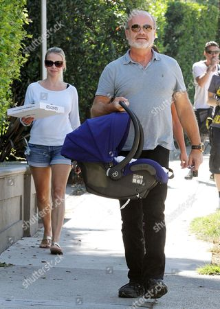 Editorial photo of Kelsey Grammer and Kayte Walsh out and about in Beverly Hills, California, America - 27 Aug 2014
