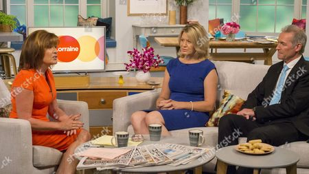 Lorraine Kelly with Jacqueline Egan and Dr Hilary Jones