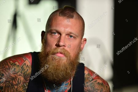 Editorial photo of Chris Birdman Andersen 'Hard Rock' Energy Drink photocall, Florida, America - 29 Aug 2014