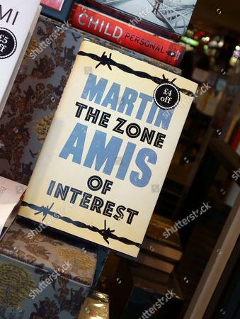 "Martin Amis novel ""The Zone of Interest"" in bookshop window"