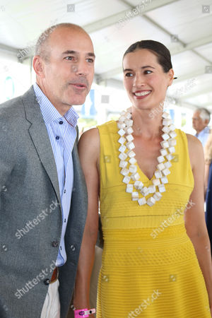 Stock Image of Matt Lauer and Annette Lauer