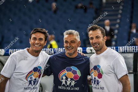 Xavier Zanetti, Roberto Baggio, Alessandro Del Piero