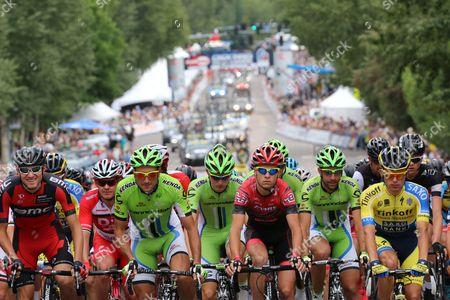 Tejay Van Garderen (USA), Ivan Basso (ITA) and Rafal Majka (Pol)
