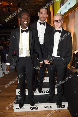 Agi Mdumulla and Sam Cotton with David Gandy