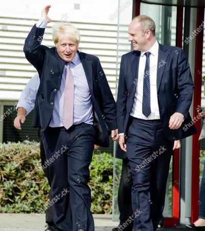 Boris Johnson with Justin Tomlinson MP