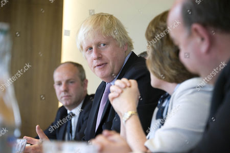 Boris Johnson with Justin Tomlinson MP at Nationwide i