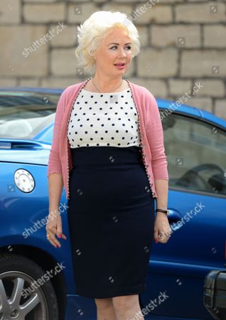 Editorial picture of JK Rowling's 'A Casual Vacancy' on set filming, Gloucestershire, Britain - 02 Sep 2014