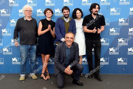 President of Jury Alice Rohrwacher, Lisandro Alonso, Ron Mann, Vivian Qu, Razvan Radulescu, Director of Festival Alberto Barbera