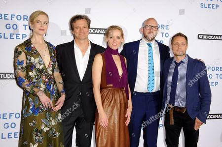 Stock Picture of Nicole Kidman, Colin Firth, Anne-Marie Duff, S J Watson and Rowan Joffe